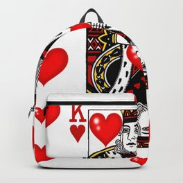 KING OF HEARTS CASINO FACE CARD ART Backpack
