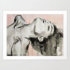 She appeared insincere and cruel Art Print