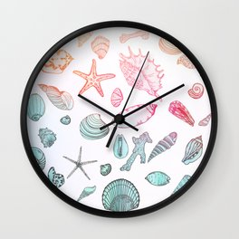 Mollusk madness Wall Clock