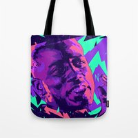 wesley bird Tote Bags featuring Wesley snipes // Bad actors v2 by mergedvisible