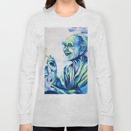 Happy End by carographic, portrait art Long Sleeve T-shirt