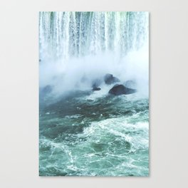 From below where all the water falls, Niagara 03 Canvas Print