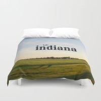 indiana Duvet Covers featuring Hello Indiana by KimberosePhotography