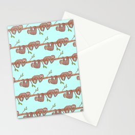 Lazy Baby Sloth Pattern Stationery Cards