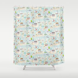 Summer On The Islands Shower Curtain