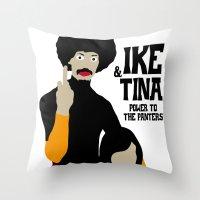 tina Throw Pillows featuring IKE & TINA by zzglam