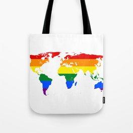 LGBT World Map Tote Bag