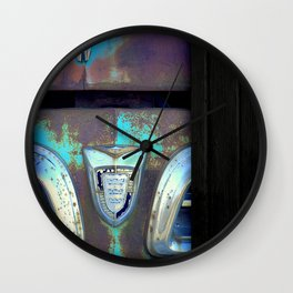 Greetings from the Rustbelt VI:  You Left Your Hood Open Wall Clock