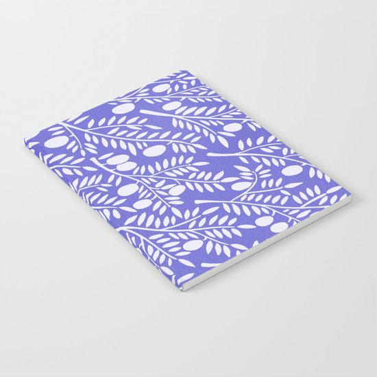 Olive Branches – Periwinkle Notebook