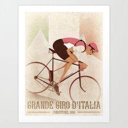 Giro D'Italia Cycling Race Italian Grand Tour Art Print
