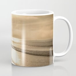 And so it Begins sunrise at Avila Beach California Coffee Mug