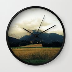 Harvest before rain Wall Clock