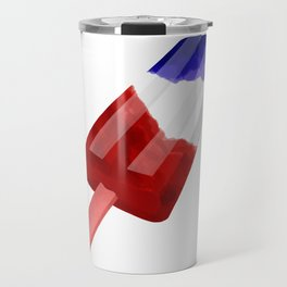 Popsicle Red White and Blue Travel Mug