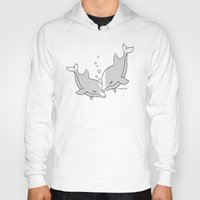 dolphins Hoodies featuring Dolphins by joanfriends