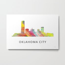 Oaklahoma City, Oklahoma Skyline Metal Print