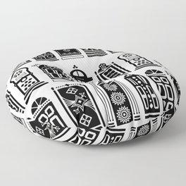 Moroccan Doors – Black Palette Floor Pillow