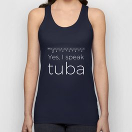 Tuba oompas (black) Unisex Tank Top