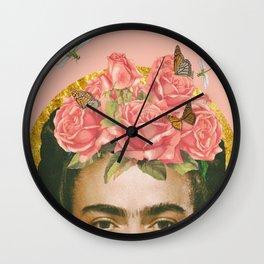 Frida Kahlo Portrait II Wall Clock