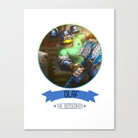 league of legends Canvas Prints featuring League Of Legends - Olaf by TheDrawingDuo