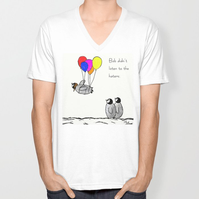 To be a Flying Penguin Unisex V-Ausschnitt