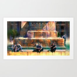 Four Men Art Print