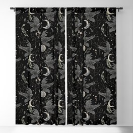 watercolor crow Blackout Curtain