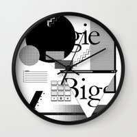 biggie Wall Clocks featuring Biggie by Mykola Dosenko