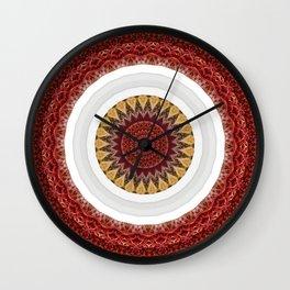 New Color Pyramidal Mandala 65 Wall Clock