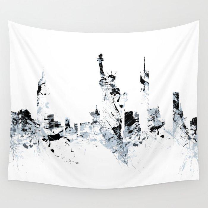 NEW YORK SPLASH Skyline Wall Tapestry