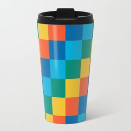 Color me happy - Pixelated Pattern in bright colors Travel Mug