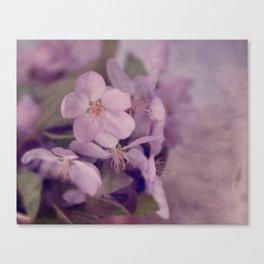 Purple Painted Blossoms Canvas Print