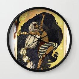 moon tarot Wall Clock