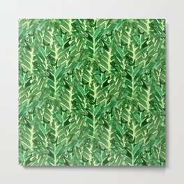 Holly Jolly Leaves (Small Pattern) Metal Print