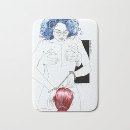 NUDEGRAFIA -25 bluehair Bath Mat