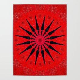 Red Star Decorative Mandala Poster