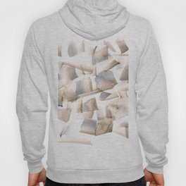180630 Grey Black Neutral Brown Abstract Watercolour 22 | Watercolor Brush Strokes Hoody