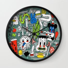 Memory Junk Wall Clock