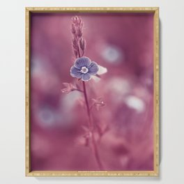 Forget-me-not Violet toned Flower Serving Tray