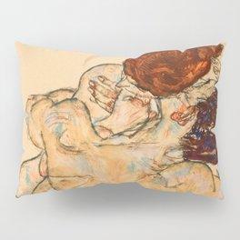 "Egon Schiele ""Mann und Frau (Umarmung)"" Pillow Sham"