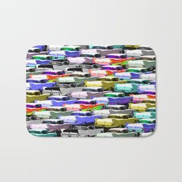 Gridlock Vintage Parking Lot Bath Mat