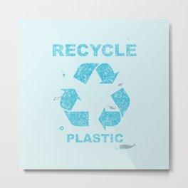 Recycle Plastic Metal Print