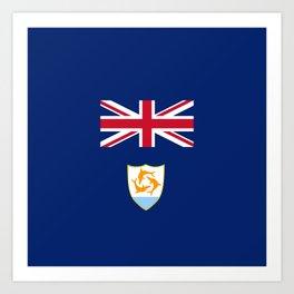 flag of Anguilla Art Print
