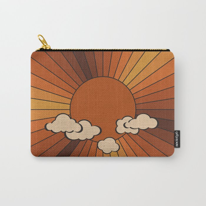 Retro Sunshine Carry-All Pouch