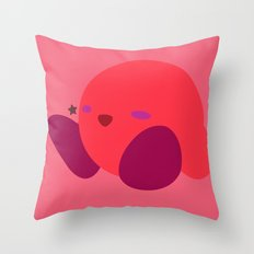 Kirby(Smash)Red Throw Pillow