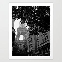 Eiffel Tower in Hiding Art Print