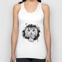 scandinavian Tank Tops featuring Scandinavian Owl by Le Dous
