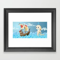 Moby the whale Framed Art Print