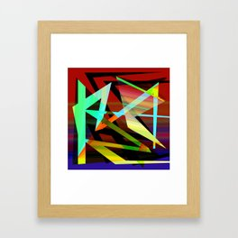 Rectilinear design Framed Art Print