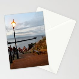 Whitby Steps Blue Hour Stationery Cards