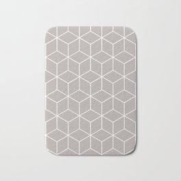 Cube Geometric 03 Grey Bath Mat
